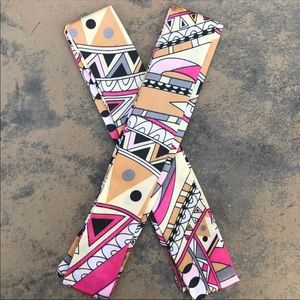 2pc Pink Tan Scarf Wrap Handbag Purse Twilly
